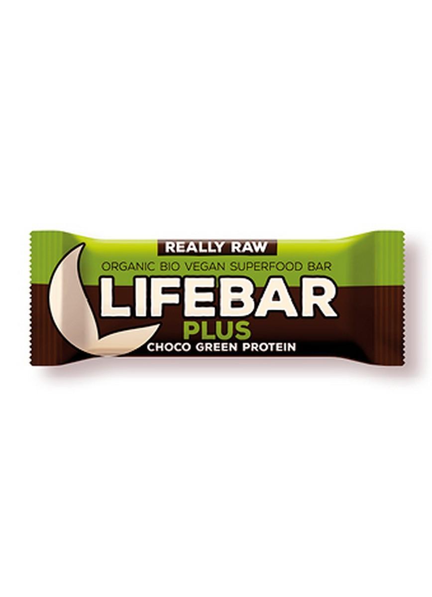 Органический батончик сырой из белка конопли и спирулины, Life food, 47 гр