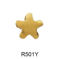 Серьги-иглы Формы STUDEX Звездочка (золото) 3мм  (медицинская сталь)