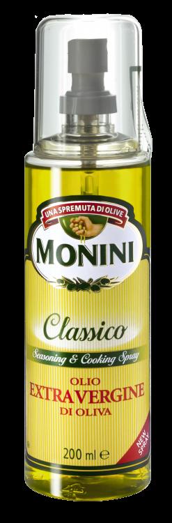 "Оливковое масло Классико экстра вирджин (спрей) ТМ ""Monini"" 250 мл."