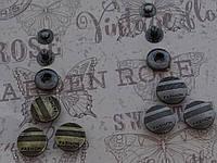 Кнопка АЛЬФА (курточная) 070 размер 18мм цвет антик, тёмный никель
