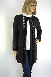 Кардиган-пальто з мережевом