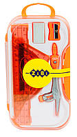 Школьная готовальня zibi zb.5316bs-11 оранжевая на 8 предметов