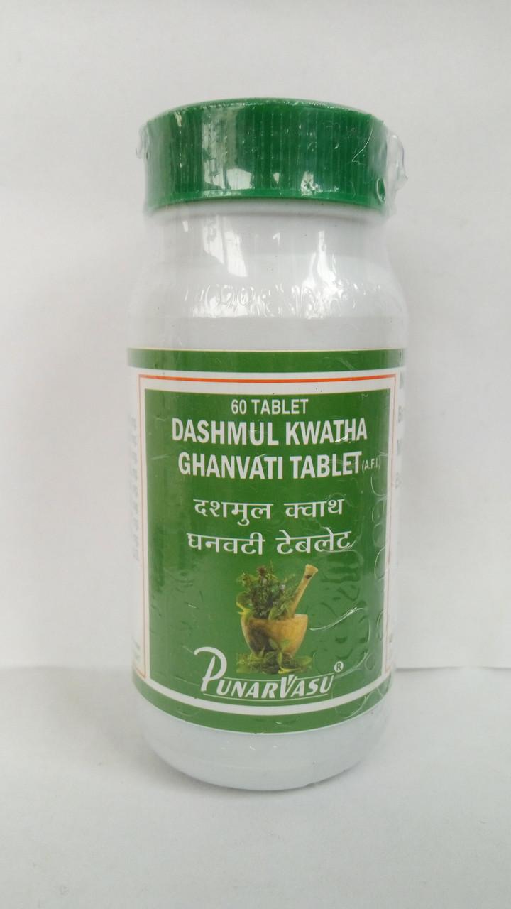 Дашамула кватха - при различных дисфункциях щитовидной железы, кистозных образованиях яичников 60т. Пунарвасу