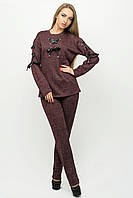 Красивый спортивный костюм Санта бордовый(44-54)