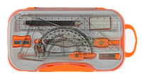Школьная готовальня циркуль zibi zb.5315bs-11 на 10 предметов