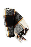 Плед 140х200 акрил/шерсть Vladi Palermo оранжевый-черный