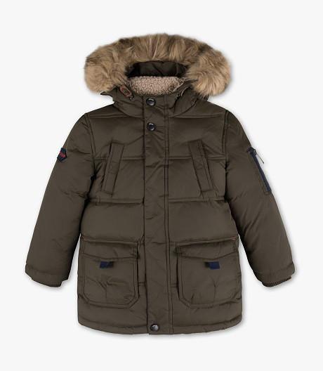Куртка пуховик хаки на мальчика 6-7 лет C&A Германия Размер 122