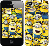 "Чехол на iPhone 4 Миньоны 8 ""860c-15-532"""