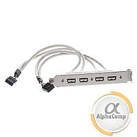 Планка задняя в системный блок USB 2.0  (4 порта)