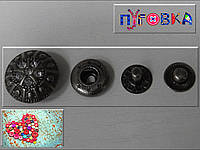 Кнопка АЛЬФА (курточная) 3508 размер 30мм цвет тёмный никель