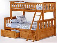 """Детские двухъярусные кровати """"Дункан"""" из дерева"""
