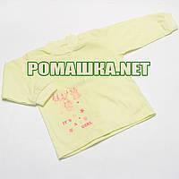 Детская кофточка р. 74 ткань КУЛИР 100% тонкий хлопок ТМ Авекс 3172 Желтый В
