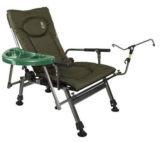 Карповое кресло Elektrostatyk с подлокотниками и столиком (F5R ST/P)
