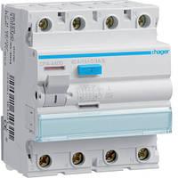 УЗО (устройство защитного отключения) 4x80A, 300 mA, A, S, 4м