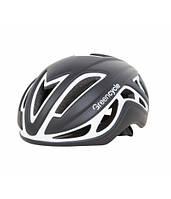 Шлем Green Cycle Jet для шоссе/триатлона и гонок с раздельным стартом черно-белый матовый