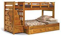 """Двухъярусная кровать """"Баунти"""" из натурального дерева"""