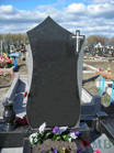 Памятник 100*50*8 см прямоугольный гранитный черный цветной одинарный двойной