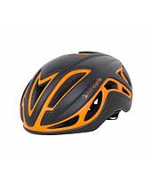 Шлем велосипедныGreen Cycle Jet для шоссе/триатлона и гонок с раздельным стартом черно-оранж матовый