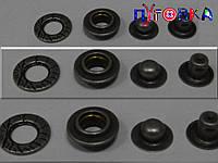 Кнопка АЛЬФА (курточная) 3823 цвет тёмный никель