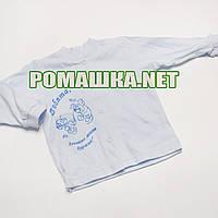 Детская кофточка р. 74 ткань КУЛИР 100% тонкий хлопок ТМ Авекс 3172 Голубой Б