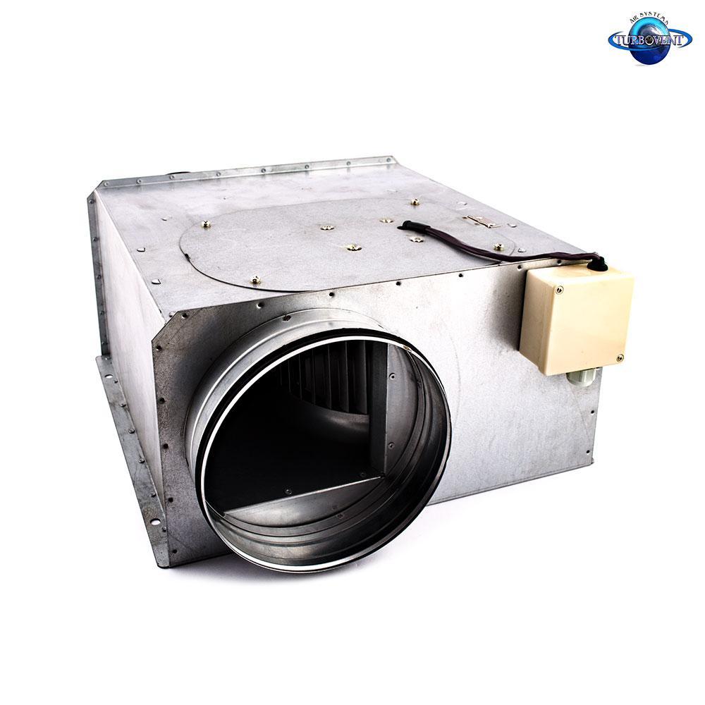 Вентилятор канальний прямокутний для круглих каналів ВКП-ДО 150