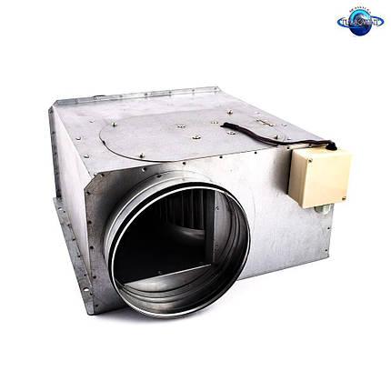 Вентилятор канальный прямоугольный для круглых каналов ВКП-К 200, фото 2
