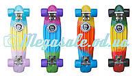 Скейтборд/скейт Penny Board Fades Градиент/Мультиколор (Пенни борд): 4 цвета, нагрузка до 80кг, фото 1