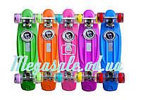 Пенни борд фиш со светящимися колесами (penny board) Fishskateboards: 5 цветов, до 80кг