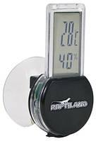 Термометр-гигрометр электронный на присоске для террариума