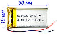 Аккумулятор 300 мАч 402040 3,7в универсальный для игрушек, наушников, гарнитур, охранных систем (300mAh)