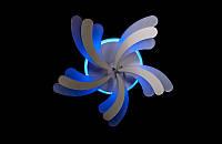 Светодиодная люстра с пультом  и синей подсветкой белая 8074-5, фото 1