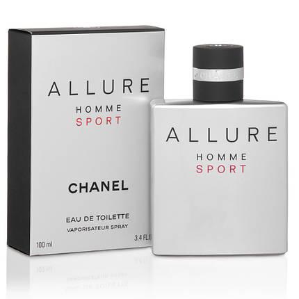 Чоловіча туалетна вода Chanel Allure Homme Sport 100 ml копія, фото 2