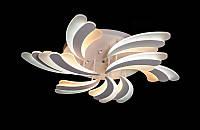 Светодиодная люстра с пультом белая 8074-6+3, фото 1