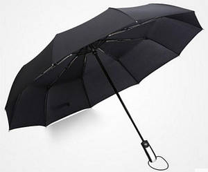 Зонт автомат мужской черный