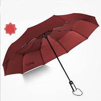 Зонт автомат женский бордовый