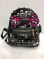 Рюкзак Bars 2736 городской молодежный с пайетками в черном цвете