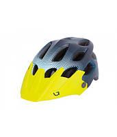 Шлем Green Cycle Slash синий-голубой-желтый матовый, фото 1