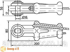 Зажим натяжной клиновой НКК-1-1Б, фото 2