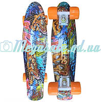 Скейтборд пенни борд (Penny Board) Happy Print Collection: 8 цветов, до 80кг, фото 1