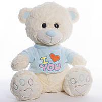 Детская мягкая игрушка, плюшевый мишка I love you, фото 1