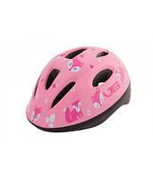 Шлем велосипедный детский Green Cycle Foxy розовый\малиновый\белый лак