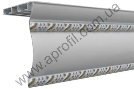 """Карниз для штор алюминиевый """"Модель 06"""" окрашенный полимерной краской на две дорожки с двумя молдингами"""