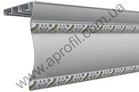 """Карниз для штор алюминиевый """"Модель 06"""" окрашенный полимерной краской на две дорожки с двумя молдингами, фото 1"""