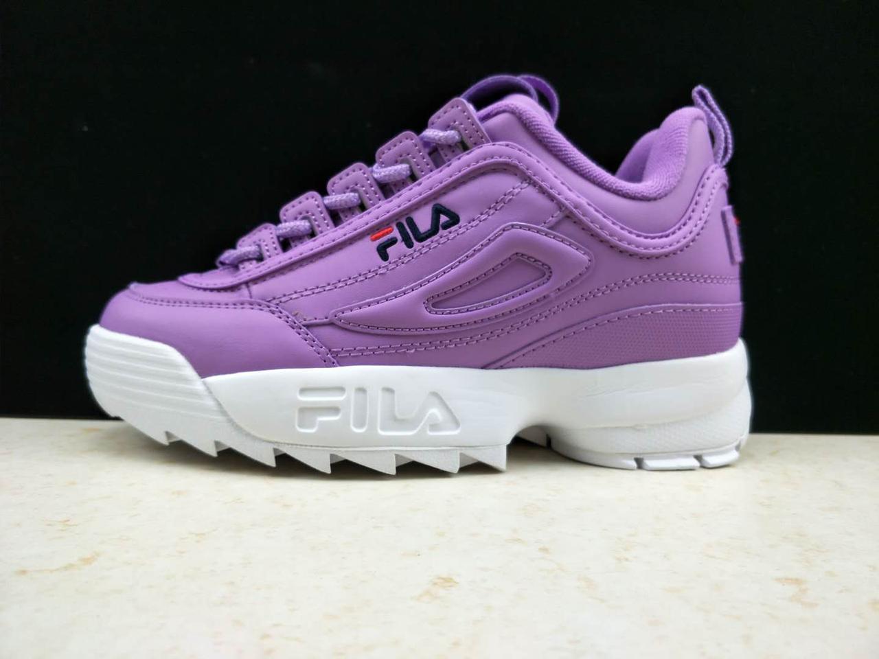 Женские Кроссовки Fila Disruptor II Leather Violet White — в ... 63440f582ed1b