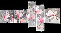 Модульная картина Цветы 160*84 см