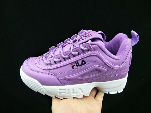 Женские кроссовки Fila Disruptor II Leather Violet White 46a9a1f601c1e