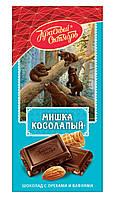 Шоколад Мишка Косолапый с орехами и вафлями фабрика Красный Октябрь 100g