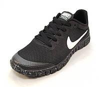 Кроссовки мужские  Nike Free Run 3.0 сетка черные (найк фри ран)(р.41,42,43,44,45)