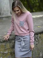 Мини юбка эко замш размер S