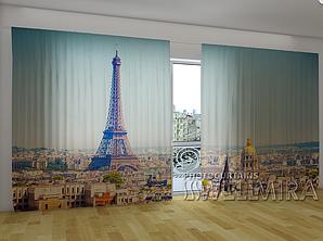 """Панорамные Фото шторы """"Утро в Париже"""" 270 х 500 см"""